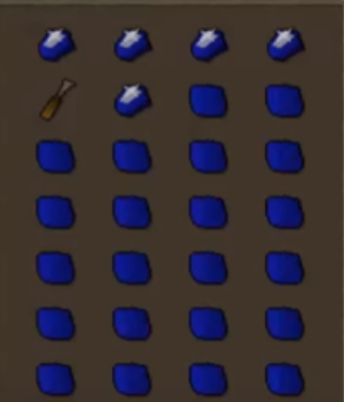 Old School Runescape Cutting Sapphires