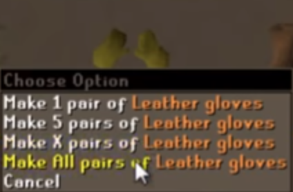 Leather gloves farming guide 1-99