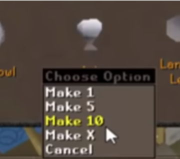 Making Unpowered Orbs osrs crafting money maker