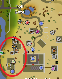 Close furnace proximity to the bank makes this spot in Al Kharid one of the best places to make gold bracelets.