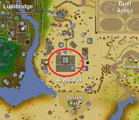 During peak time Al Kharid palace resembles a battlefield more than a palace.