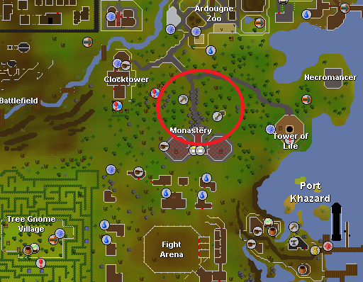 Ardougne Monastery is a decent mining spot if competition elswhere is too heavy and you meet certain prerequisites.