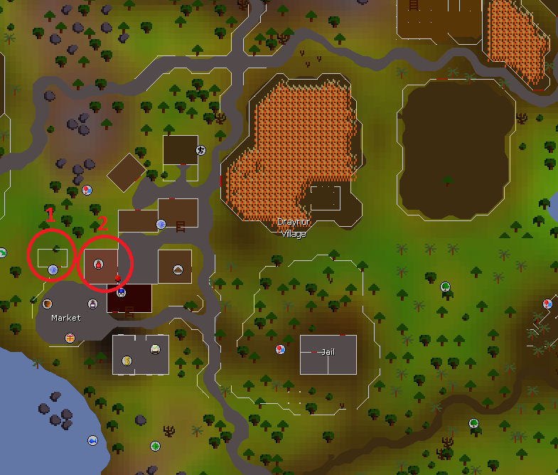 OSRS Easter Event 2019 Martin the Master Gardener(1) and Aggie(2) location