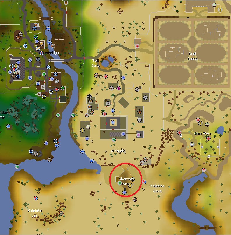 OSRS Easter Event 2019 Shantay Pass location