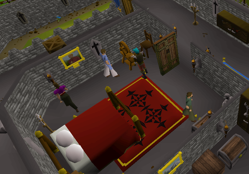 Room on the second floor of  Lumbridge Castle where the spinning wheel is. A busy place and for a good reason.