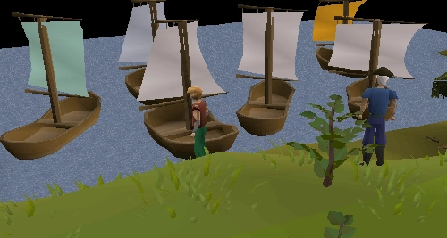 Christopher Columbus inspecting the ships he was provided by the Spanish crown, 1492 A.D.