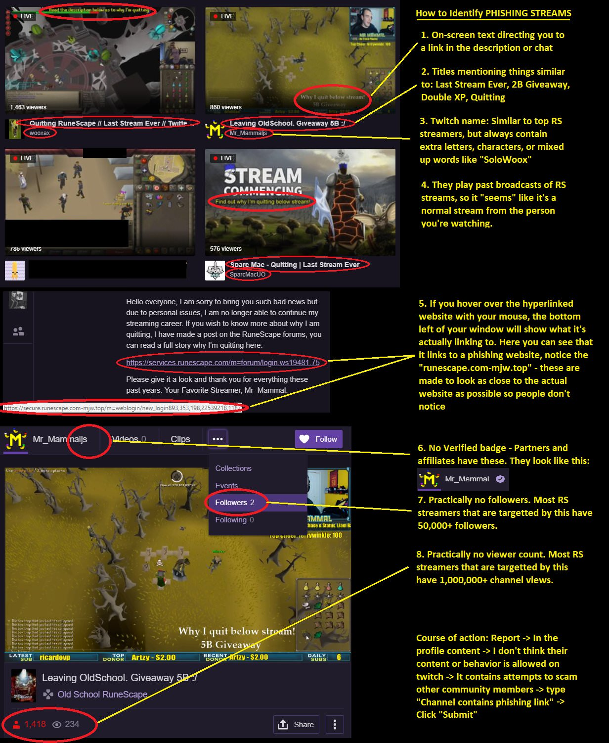 A comprehensive instruction on how to spot a fake streamer
