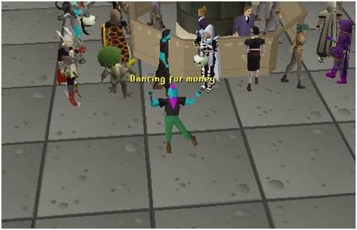 dancing in grand exchange