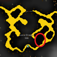 osrs lava dragon isle map