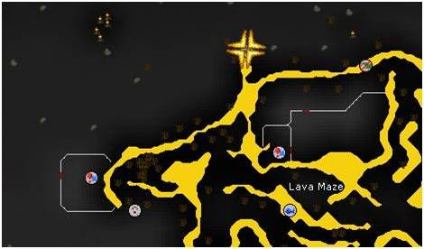north of lava maze