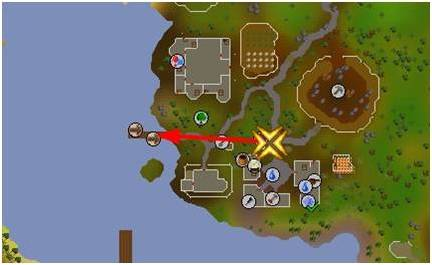 osrs map of rimmington boat