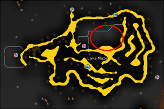 osrs map of lava maze